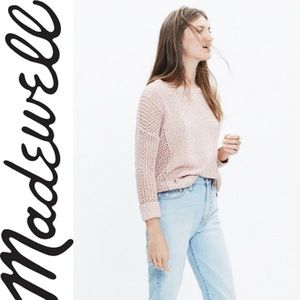 Madewell Marled Plaza Pullover Sweater Coral XXS